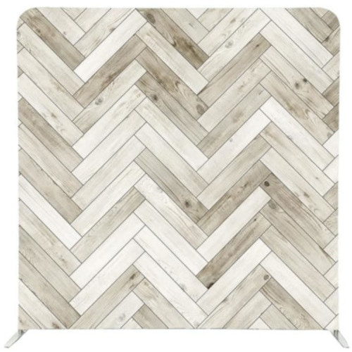 White washed pallet pattern on a photo booth pillow backdrop