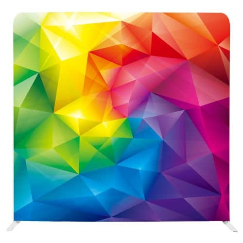 Photo backdrop with a swirl of rainbow colours